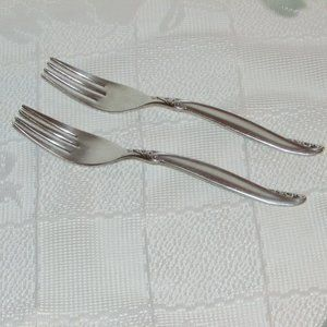 LEILANI vintage SILVERPLATE DINNER FORKS